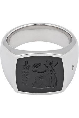 Tom Wood Herren Ringe - Athena onyx-embellished ring - Metallisch