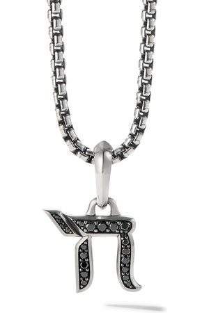 David Yurman Herren Halsketten - 17mm diamond chain amulet enhancer pendant