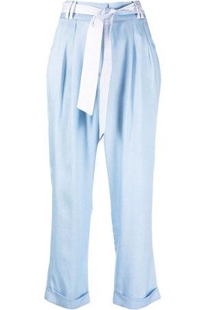 MAX & MOI Belinda Cropped-Hose mit Falten