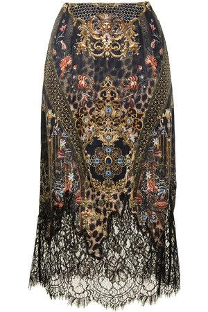 Camilla Abingdon Palace silk slip midi skirt - Mehrfarbig