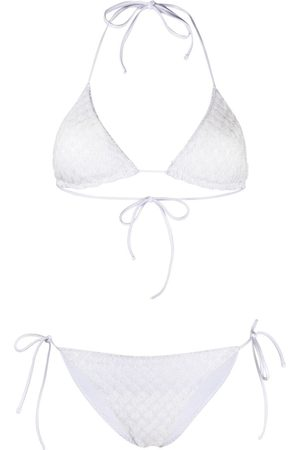 Missoni Neckholder-Bikini im Metallic-Look