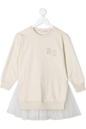 Brunello Cucinelli Sweatshirtkleid mit Logo-Print
