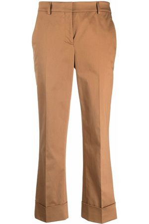 Incotex Cropped straight-leg trousers - Nude