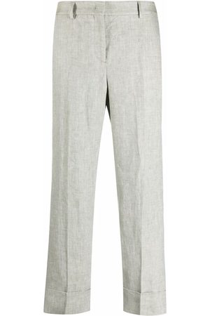 Incotex Cropped straight-leg linen trousers