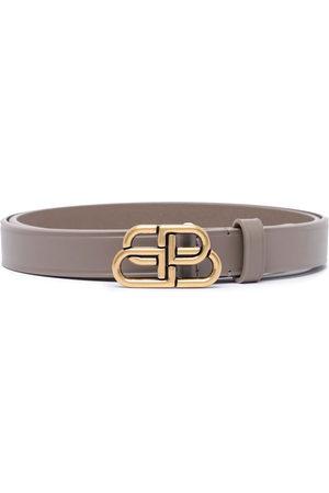 Balenciaga Damen Gürtel - BB thin leather belt