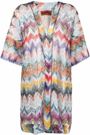 Missoni Mare Zigzag-knit V-neck tunic