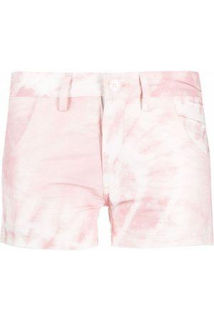 Moa Master Of Arts Tie dye-print mini shorts