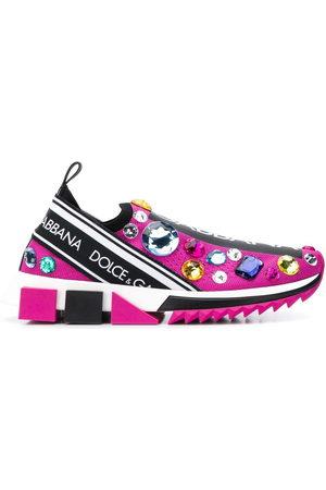 Dolce & Gabbana Damen Sneakers - Sneakers mit Kristallverzierung
