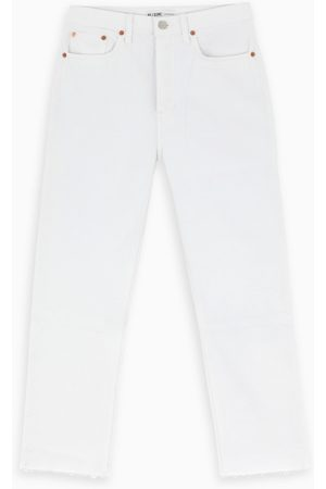 RE/DONE White straight cropped jeans