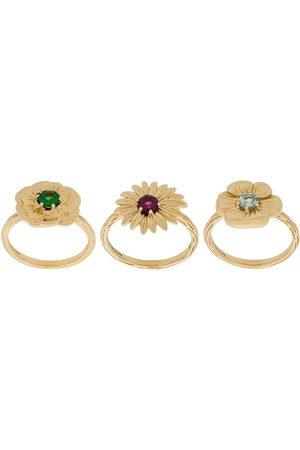 Aurélie Bidermann Damen Ringe - Set aus drei 18kt Gelbgoldringen - Metallisch