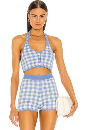 MAJORELLE Addy Cropped Halter Top in . Size XXS, XS, S, M, XL.