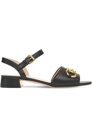 Gucci Damen Sandalen - 25mm Hohe Ledersandalen Mit Trensendetail