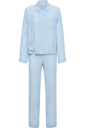 AG Damen Schlafanzüge - Pyjama Aus Seidenmischsatin