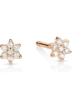 GINETTE NY Damen Ohrringe - Ohrringe Mini Stern mit Diamanten