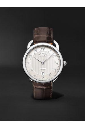 Hermès Arceau Automatic 40mm Steel and Alligator Watch, Ref. No. 055562WW00