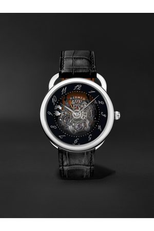 Hermès Arceau Squelette Automatic Skeleton 40mm Steel and Alligator Watch, Ref. No. 055537WW00