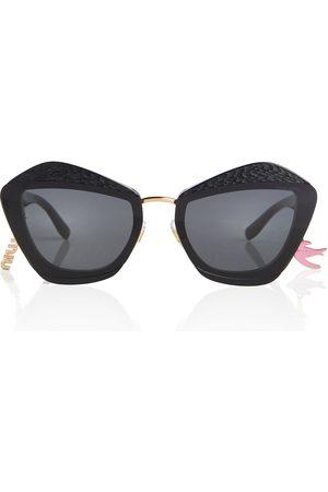 Miu Miu Verzierte Cat-Eye-Sonnenbrille