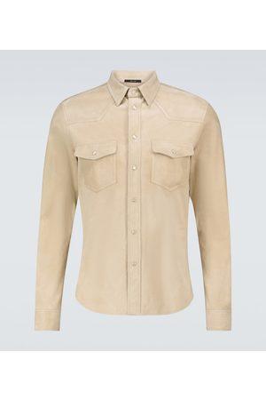 Tom Ford Hemd aus Veloursleder