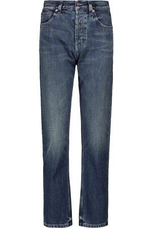 Saint Laurent High-Rise Straight Jeans