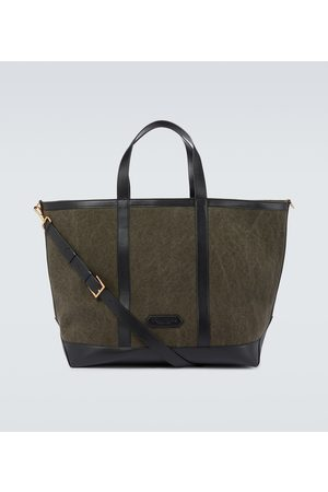 Tom Ford Tote Bag aus Canvas und Leder