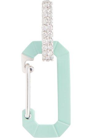 Eera Exklusiv bei Mytheresa – Einzelner Ohrring Chiara Small aus 18kt Weißgold und Silber mit Diamanten