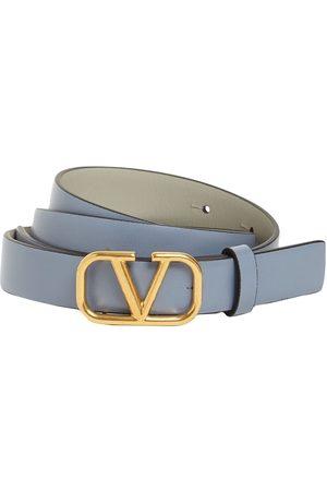 VALENTINO GARAVANI 20mm Wendbarer Ledergürtel Mit Logo