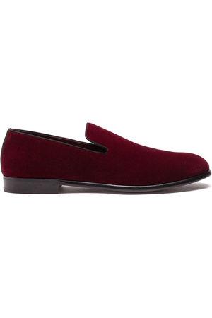 Dolce & Gabbana Herren Halbschuhe - Velvet-effect slippers