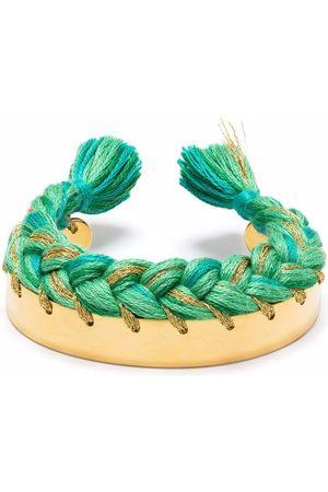 Aurelie Bidermann Damen Armbänder - Copacabana Armspange mit Flechtband