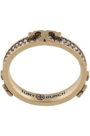 Tory Burch Damen Ringe - Serif-T embellished ring
