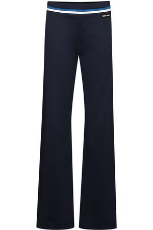 Miu Miu Damen Slim & Skinny Hosen - Klassische Hose mit Streifen