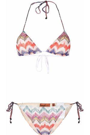 Missoni Triangel-Bikini mit Zickzackmuster