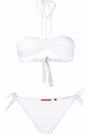 Missoni Neckholder-Bikini aus Pointelle-Strick