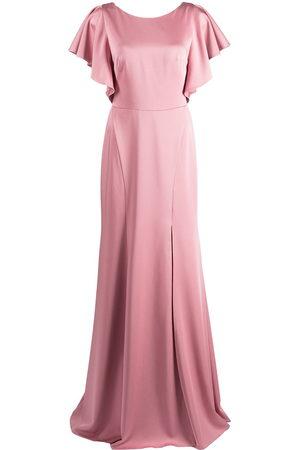 Marchesa Notte Short-sleeve floor-length dress