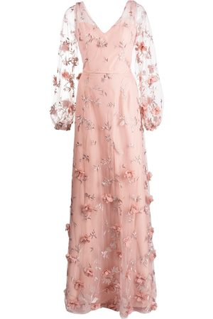 Marchesa Notte Bridesmaids Avellino floral-embroidered dress