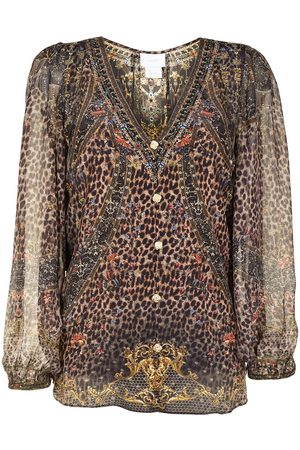 Camilla Abingdon Palace Seidenbluse mit Schnürung - Mehrfarbig