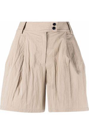 Armani Exchange Damen Shorts - High-Waist-Shorts mit Falten - Nude