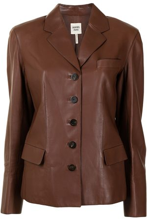 Hermès Pre-owned Blazer aus Leder