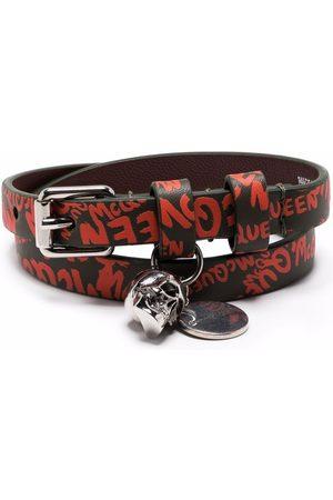 Alexander McQueen Armband mit Logo-Print