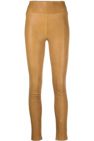 SPRWMN High-waist leather leggings - Nude
