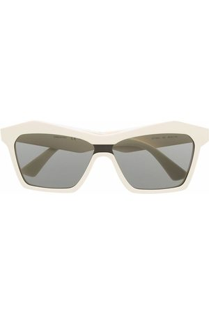 Bottega Veneta Eyewear Sonnenbrille mit eckigem Gestell - Nude