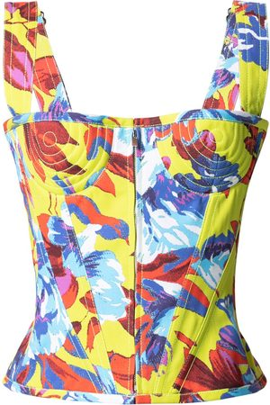 CHRISTOPHER JOHN ROGERS Floral-print bodice top