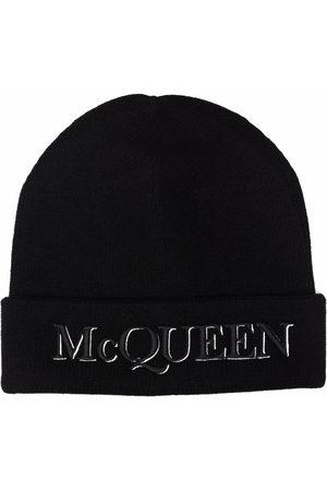 Alexander McQueen Mütze mit Logo-Stickerei