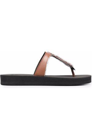 Giuseppe Zanotti Gem-embellished flip flops