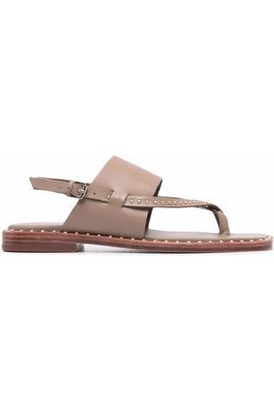 Ash Medina studded sandals - Nude