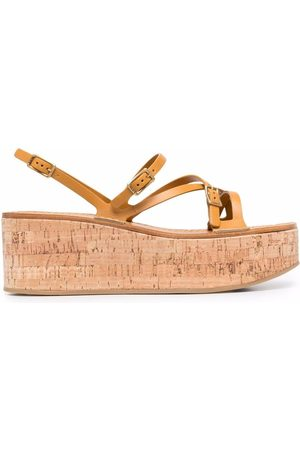 Tod's Wedge-Sandalen aus Leder