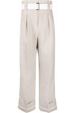 Ganni Weite Hose mit Falten - Nude