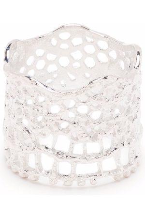 Aurélie Bidermann Lace-look thick-band ring