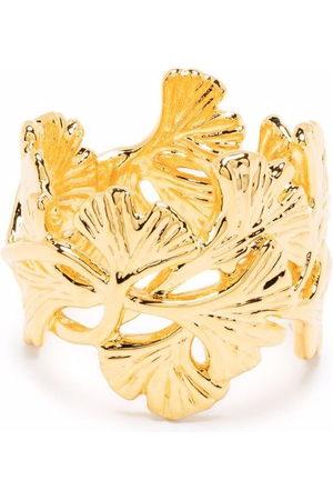 Aurelie Bidermann Tangerine leaf-detail ring