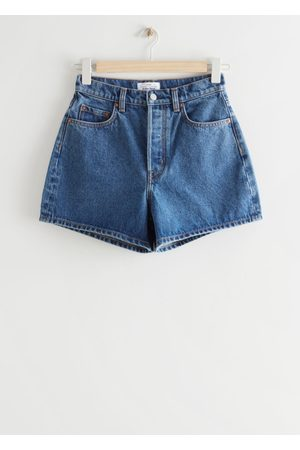 Other Stories Damen Shorts - Forever Cut Jeans Shorts - Blue