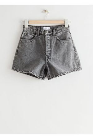 Other Stories Damen Shorts - Forever Cut Jeans Shorts - Grey